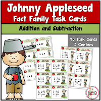 Johnny Appleseed Fact Family Math Centers