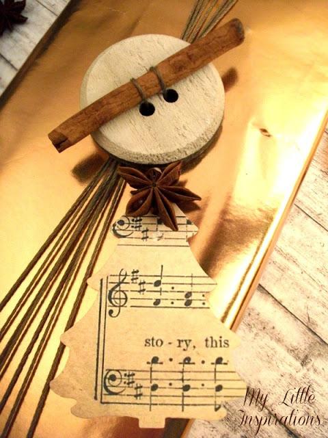 Pacchetto regalo per Natale Natural Glam - dettaglio 3 - My Little Inspirations