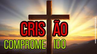 Cristão comprometido imagem de cruz