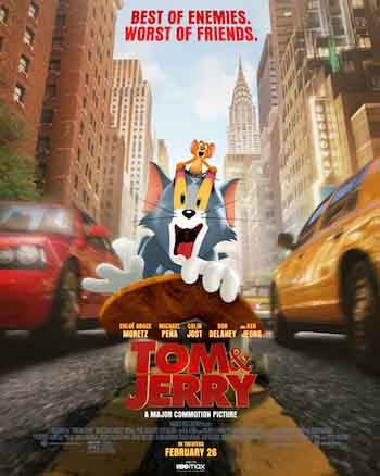 Tom and Jerry 2021 720p 800MB HDCAM Dual Audio [Hindi - English]