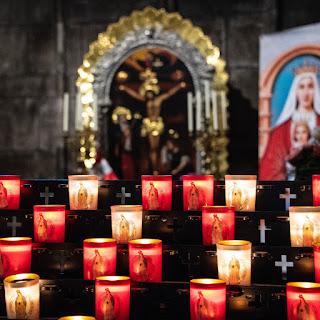 bohemian catholic candles church chapel mother mary icon christ christian spirituality spiritual religion