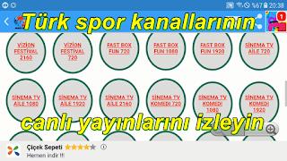ANDROİD TV HD İLE TÜRKİYE SPOR KANALLARİ İZLEYİN