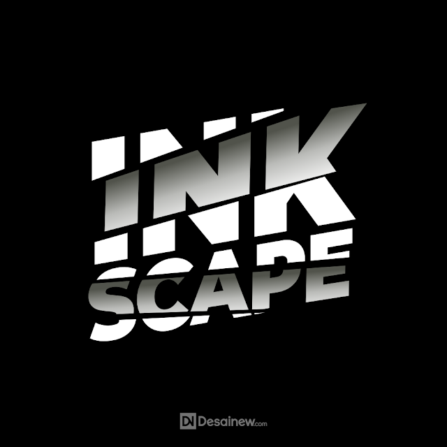 How to cut off realistic text inkscape tutorial coreldraw adobe illustrator graphic design free