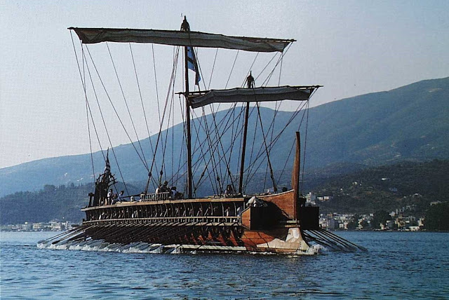 The Olympias Τrireme sails again