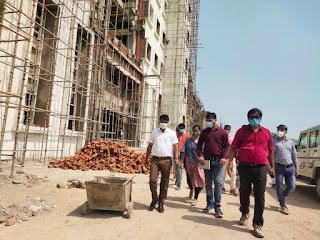 डीएम ने निर्माणाधीन मेडिकल कॉलेज का किया निरीक्षण  | #NayaSaberaNetwork