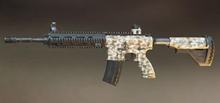 M416 Pubg Mobile Skin: Desert Camo