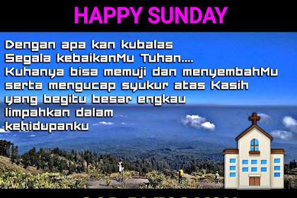 Ucapan Selamat Hari Minggu Rohani Kristen