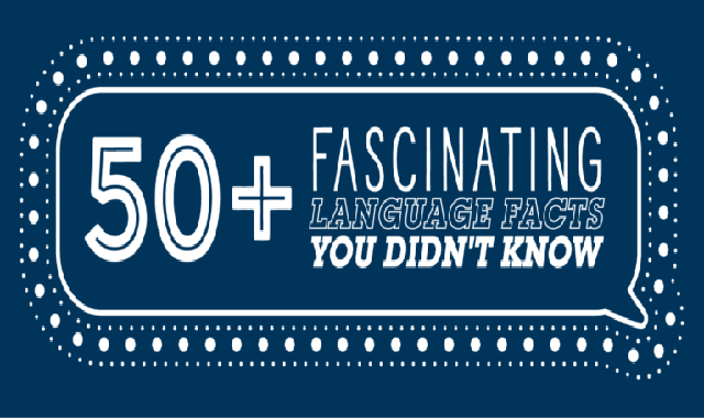 50+ Fascinating Language Facts You Didn't Know #infographic