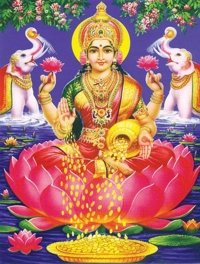 Laxmi Puja Photo Red Saree