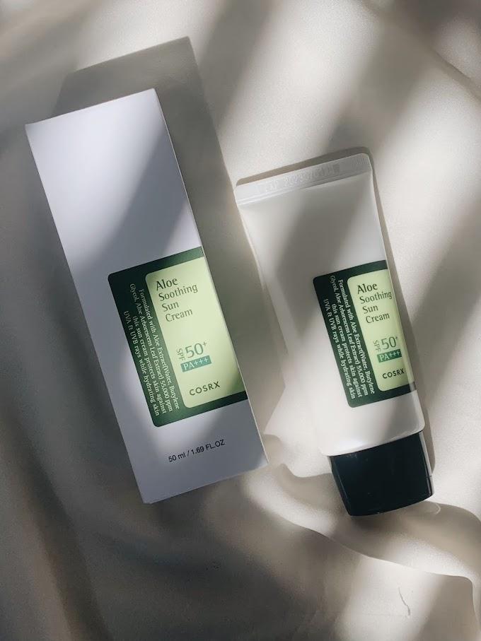 Review: COSRX Aloe Soothing Sun Cream SPF 50+ PA+++, Aman Dikulit Berjerawat
