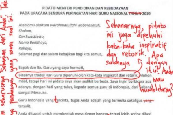 Viral! Netizen Kritik Pidato Menteri Nadiem
