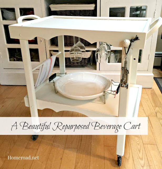 Beverage Cart Makeover www.homeroad.net