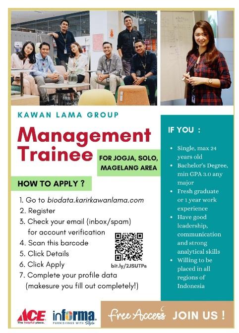 Lowongan Kerja Management Trainee Kawan Lama GROUP Bulan Mei 2020