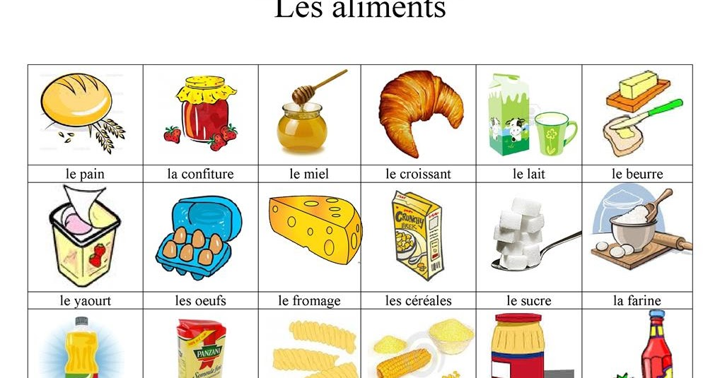 2 en fran ais unit 3 les aliments for Salle de bain vocabulaire