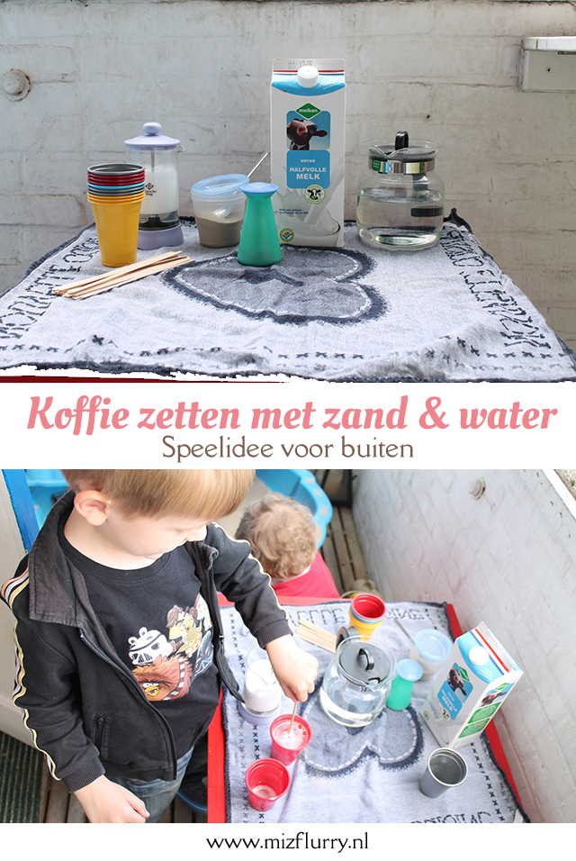 koffie zand water buitenspelen