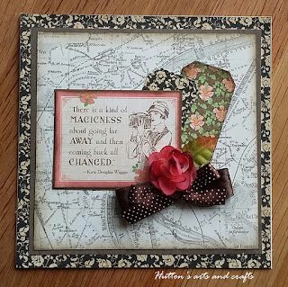 Handmade travel greeting card