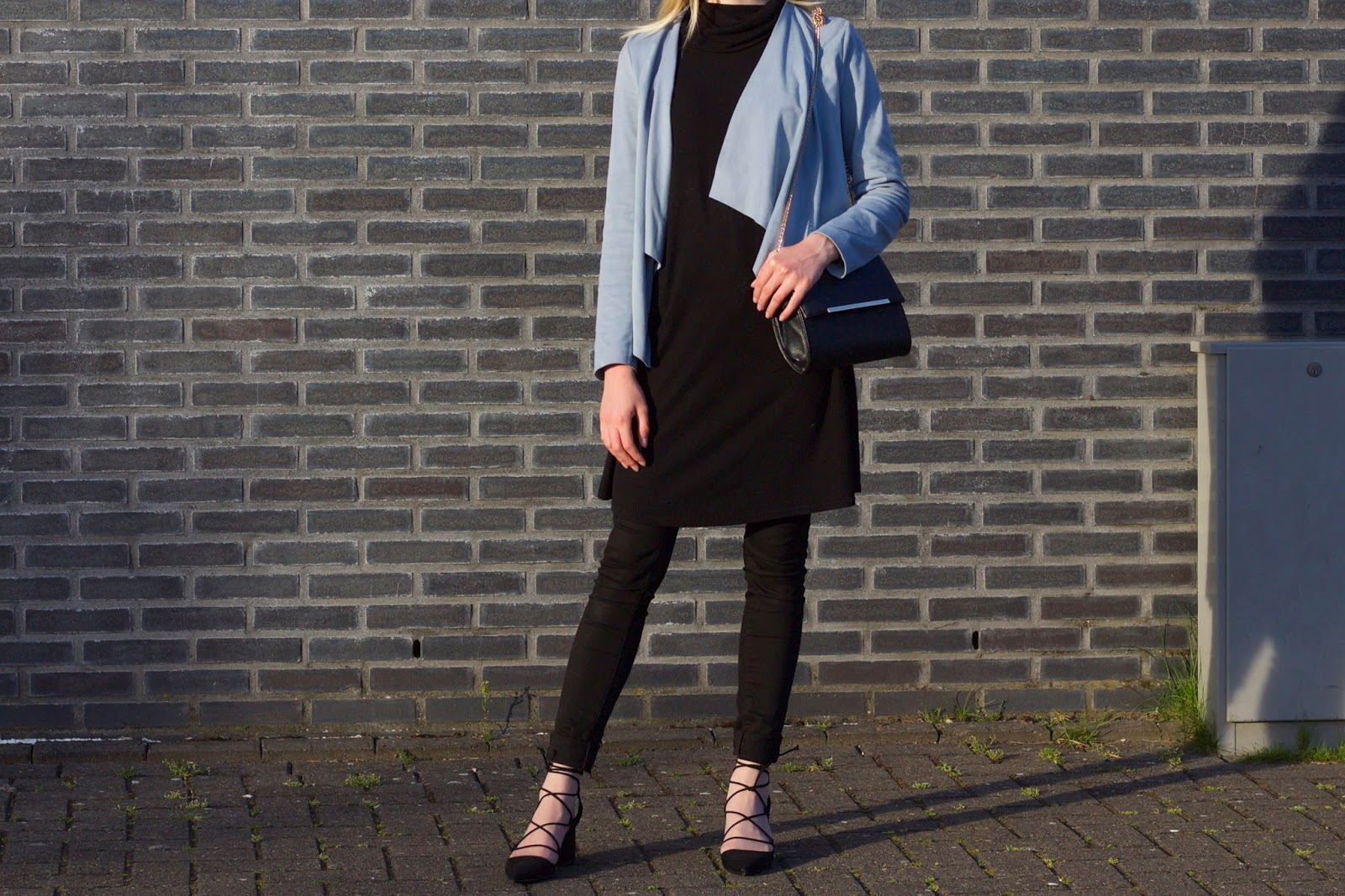Dusty Blue Faux Suede Jacket