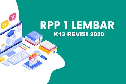 Download RPP Satu Lembar K13 Revisi 2020 PKN Kelas 9 Jenjang SMP/MTs