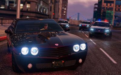 GTA 5 Poursuite Police - Fond d'écran en Ultra HD 4K 2160p