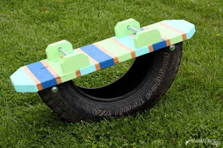 Tire Teeter Totter For Kids