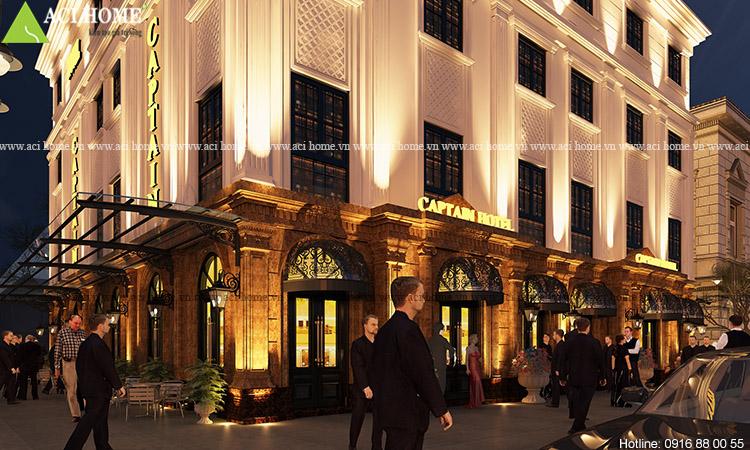 Thiết kế khách sạn Captain Hotel 5 tầng tại Hạ Long - Ảnh 2