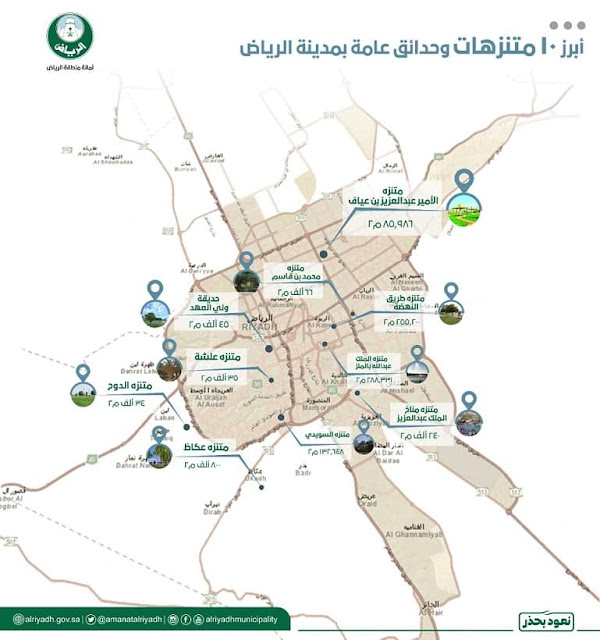 10 Parks in Riyadh which provide space for Walking and Recreation - Saudi-Expatriates.com