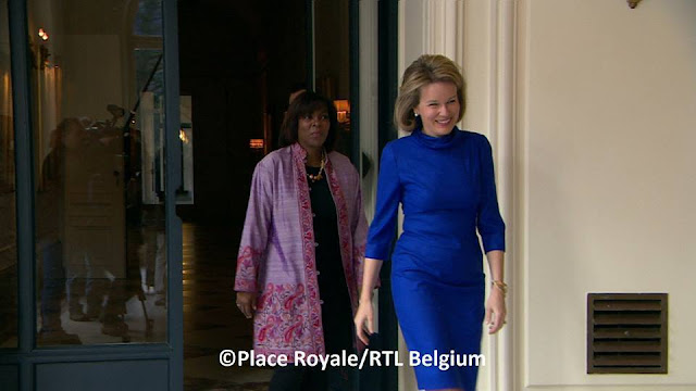United Nations World Food Programme (WFP) Ertharin Cousin and Queen Mathilde