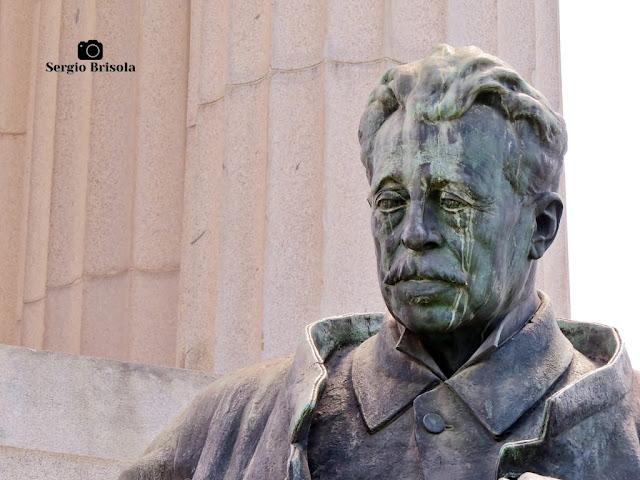 Escultura Ramos de Azevedo - Monumento a Ramos de Azevedo (close-up)
