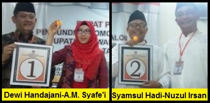 Dua  pasang calon Bupati dan wakil Bupati Kabupaten Tanggamus 2018