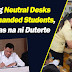 Neutral desks for left-handed students, batas na.