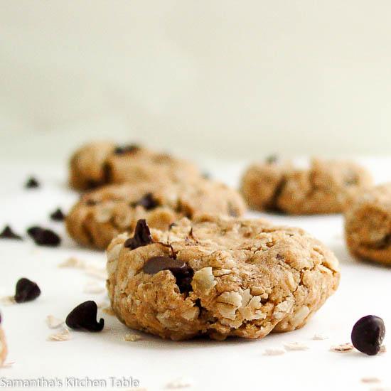 PB Oatmeal Chocolate Chip Cookies