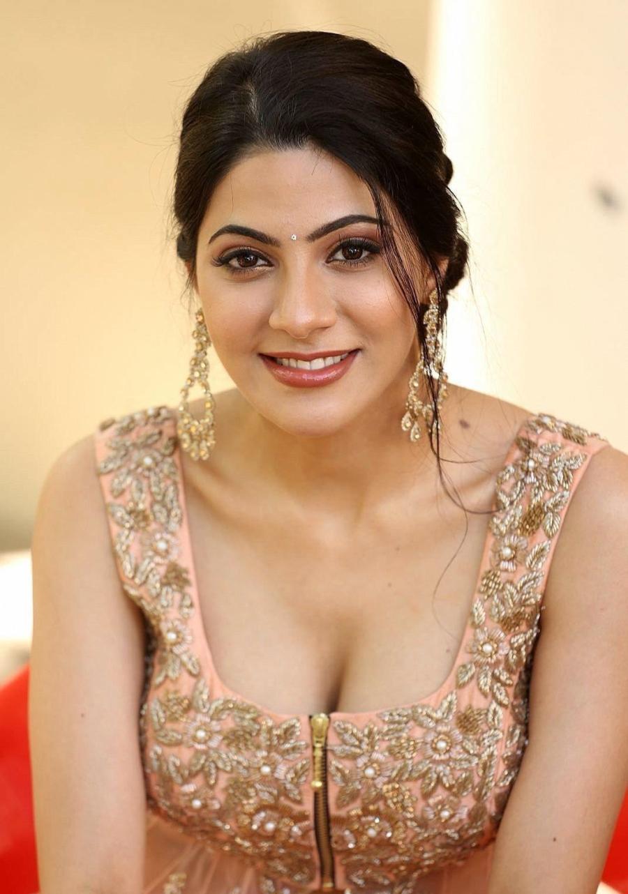Actress Nikki Tamboli Bomb Curvy Photos and Images from Movie Press Meet
