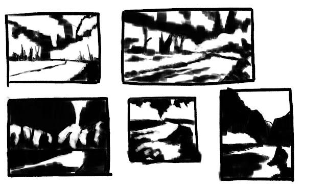 Landscape notan studies Jul 8 2019