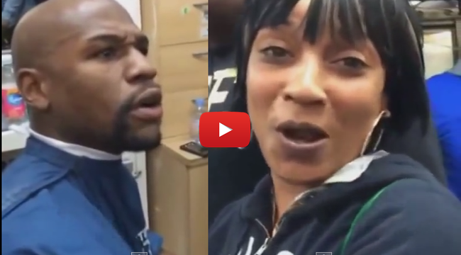 American Boxer Floyd Mayweather Jr Caught on Cam Arguing with a Jamaican Woman