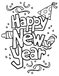 happy new year images in black and white