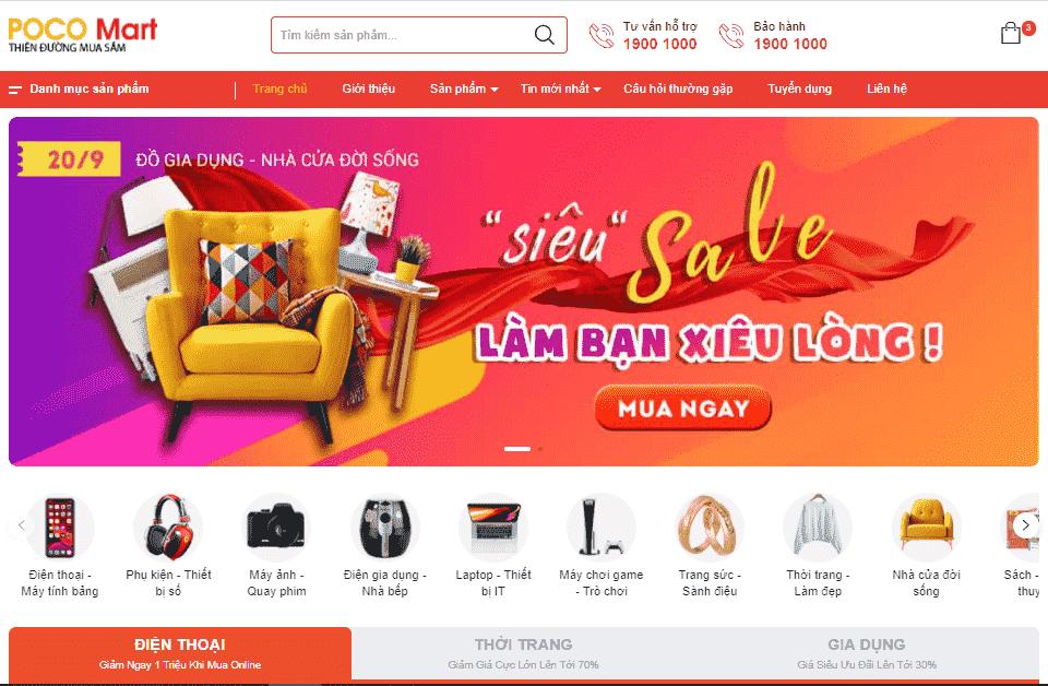 Template blogspot mua sắm tiếp thị liên kết