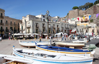 The pretty harbour in the town of Lipari on the island of the same name in the Aeolian Islands