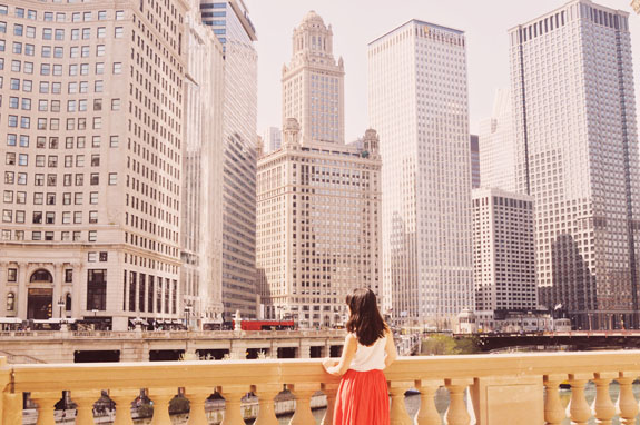 2 days in Chicago itinerary: view of the Chicago river and skyline