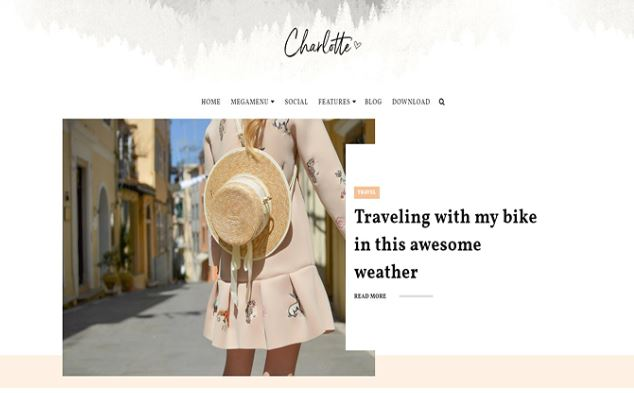 Chia sẻ giao diện blogger Charlotte multipurpose blogger template