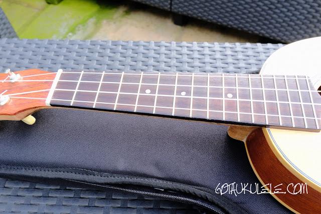Noah Pineapple Soprano Ukulele fingerboard