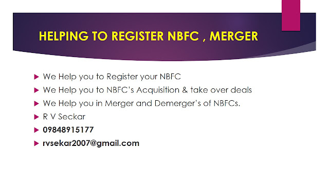 R V Seckar consultant in FEMA, CORPORATE LAW & NBFC REGISTRATION