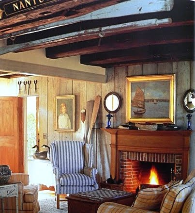 cozy Nantucket cottage living room