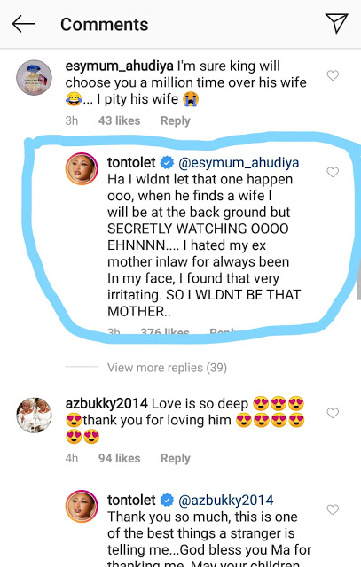 Tonto Dikeh Reveals Why She Hated Her Mother-In-Law
