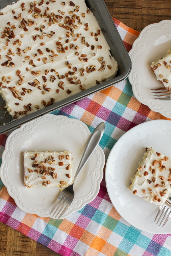 Filled with coconut and pecans and topped with a decadent coconut rum frosting, this cake is unbelievably simple to make, but beautiful and delicious enough for your holiday table.