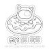 Cat is Sus Sticker Funny Dunkin Donut Sticker para Colorir