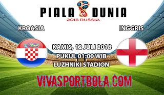 Prediksi Bola Kroasia vs Inggris 12 Juli 2018