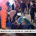 Dos lesionados en colisión ocurrida en población Retulemu