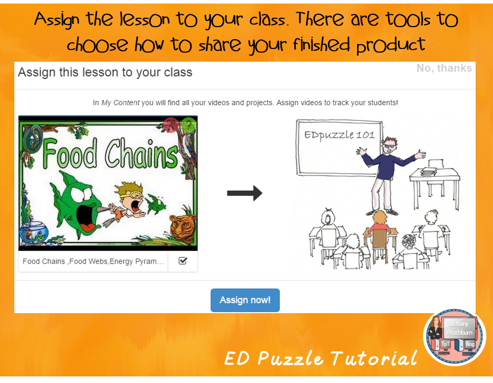 ED Puzzle gives us another tool to make multimedia presentations easier and more effective in our classrooms.