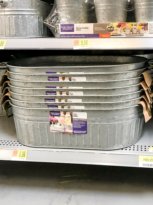 Walmart galvanized party tub