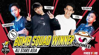 Tim Indonesia Berhasil Menjuarai Turnamen Free Fire All Stars 2021 Asia untuk Mode Bomb Squad